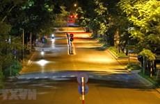 Calles de Hanoi tranquillas en la noche durante el distanciamiento social por el COVID-19