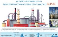 Índice de producción industrial de Vietnam crece de enero a septiembre