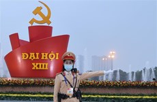 Garantizan la absoluta seguridad del XIII Congreso del Partido Comunista de Vietnam