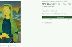 Retrato del difunto pintor vietnamita se subastará en Hong Kong