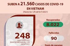Evolución de COVID-19 en Vietnam, hasta mediodía