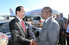 Presidente de Vietnam llega a Madagascar para asistir a Cumbre de Francofonía