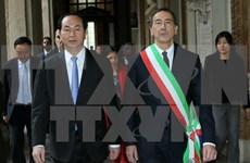 Presidente de Vietnam concluye visita a Italia
