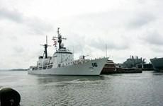 Buque de Armada de Filipinas atraca puerto de Cam Ranh