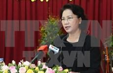 Presidenta del Parlamento de Vietnam se reúne con votantes de ciudad deltaica