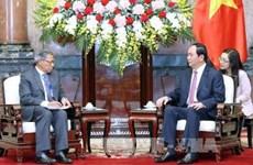 Presidente vietnamita urge aumentar intercambio comercial con Malasia a 15 mil millones USD