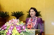 Líder parlamentaria parte de Hanoi para visitar India