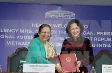 Presidenta de Asamblea Nacional se reúne con dirigentes del parlamento indio