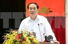 Presidente de Vietnam conversa con electores militares de Ciudad Ho Chi Minh
