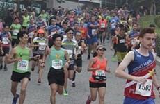Nutrida participación en carrera en Hanoi por animales silvestres