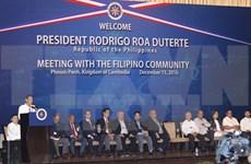 Presidente de Filipinas realiza visita oficial a Camboya