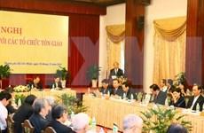 Premier de Vietnam dialoga con dignatarios religiosos