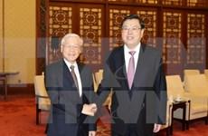 Líder partidista de Vietnam se reúne con titular de la Asamblea Popular Nacional de China