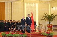 Destacan significado de la visita a China del líder partidista vietnamita