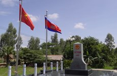 Inician construcción de hitos secundarios en frontera Vietnam – Camboya