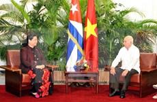Continúa dirigente parlamentaria vietnamita visita a Cuba