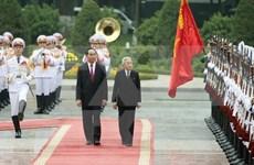 Presidente de Vietnam recibe a Emperador de Japón