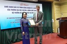 Ministra vietnamita recibe título de Oxford por segunda vez
