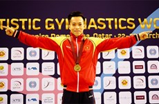 Atleta vietnamita conquista presea dorada en Copa Mundial de Gimnasia