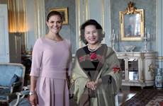 Presidenta del Parlamento vietnamita se reúne con princesa heredera de Suecia