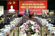 Presidente vietnamita insta a aumentar auditoría en proyectos de desarrollo