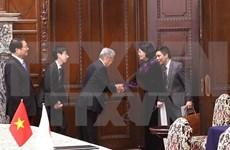 Vicepresidenta de Vietnam destaca fructíferos lazos parlamentarios con  Japón