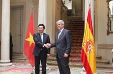 Cancilleres de Vietnam y España destacan fructífero desarrollo de relaciones bilaterales