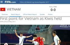 FIFA exalta destacada actuación de Vietnam en Copa Mundial sub-20