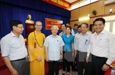 Máximo dirigente partidista vietnamita dialoga con electores capitalinos