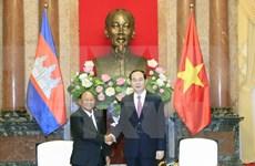 Presidente de Vietnam destaca significado de visita de dirigente legislativo camboyano