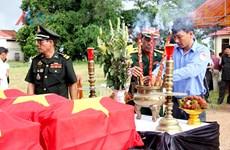 Repatrían restos de combatientes vietnamitas caídos en Camboya
