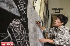 El alma del pueblo en grabados en madera de Tran Nguyen Dan