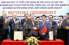 Hanoi y Estado de Utah de EE.UU. fortalecen relaciones de cooperación