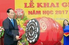 Impulsar la educación es política primordial de Vietnam, afirma presidente