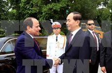 Presidente de Egipto concluye visita a Vietnam