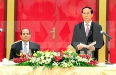 Presidente de Vietnam aprecia relación con Egipto