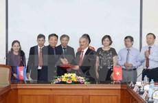 Agencias de noticias de Vietnam y Camboya fortalecen cooperación