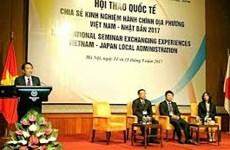 Japón comparte experiencias en reformas administrativas con Vietnam