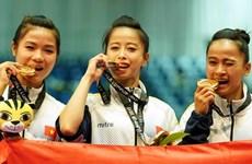 Ondea la bandera vietnamita en los Juegos Asiáticos Bajo Techo en Turkmenistán