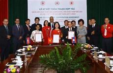 Filiales de Cruz Roja de Vietnam, Laos y Camboya firman acuerdo de cooperación
