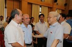 Máximo dirigente partidista de Vietnam dialoga con electores