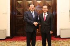 Vicepremieres de Vietnam y Laos resaltan la amistad binacional