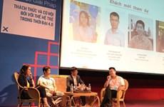 Jóvenes vietnamitas debaten sobre trabajo decente y crecimiento económico