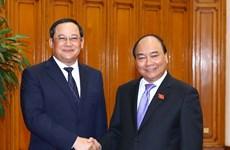 Premier de Vietnam propone acelerar proyectos de cooperación inversionista con Laos