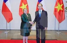 Presidente vietnamita ofrece banquete a Michelle Bachelet