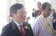 Canciller vietnamita dialoga con ministros de Noruega e Irlanda en marco del ASEM