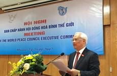 Celebran en Hanoi reunión del Comité Ejecutivo del Consejo Mundial de la Paz