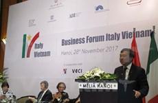 Intensifican cooperación económica Vietnam-Italia