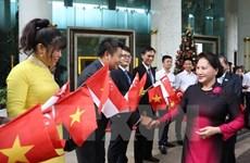 Presidenta del Parlamento de Vietnam concluye gira por Singapur y Australia