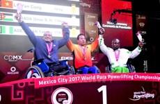 Vietnam cosecha tres medallas en Campeonato mundial de pesas para minusválidos